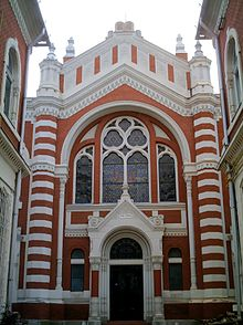 The Synagogue of Brasov (built in 1901)