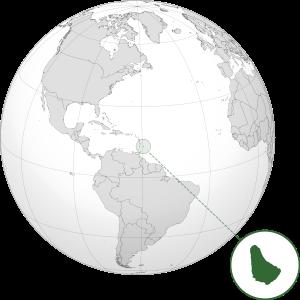 Barbados on World Map
